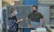 Prof. Scrivener interviewed for Swiss TV